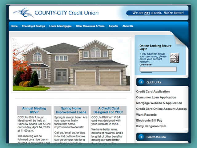 Website: County-City Credit Union