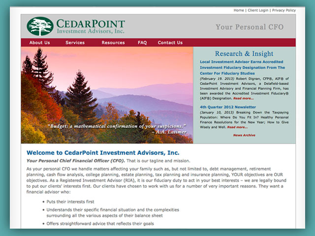 Website: CedarPoint Investment Advisors