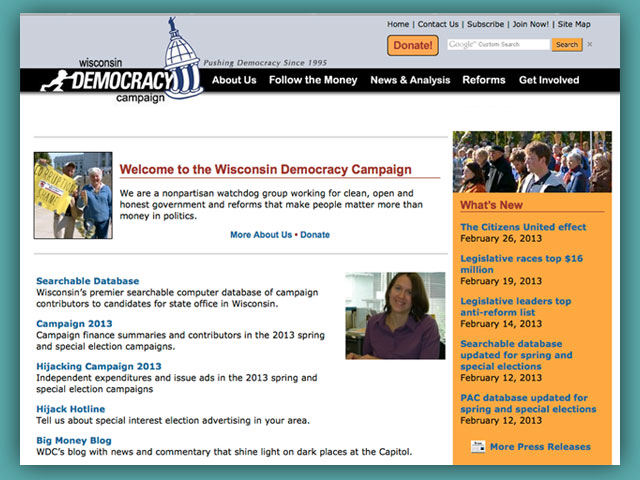 Website: The Wisconsin Democracy Campaign